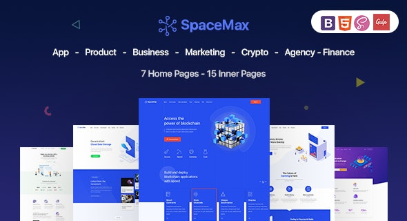 SpaceMax - Multipurpose HTML Template - Site Templates