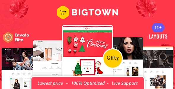 Bigtown - Opencart 3 Multi-Purpose Responsive Theme - Shopping OpenCart