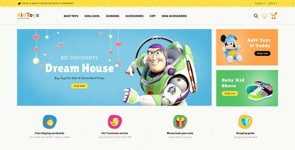 Kid Toys - Opencart 3 Multi-Purpose Responsive Theme
