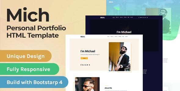 MIch - Personal Portfolio / Resume HTML Template - Portfolio Creative