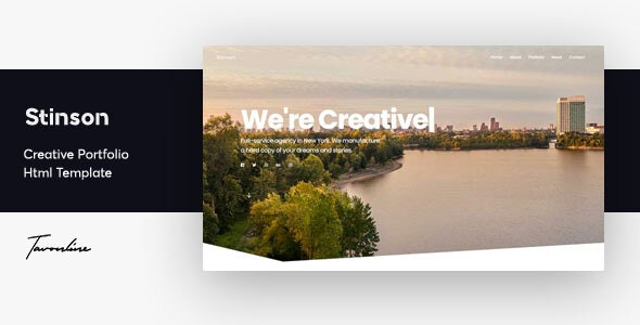 Stinson - Creative Portfolio Template - Portfolio Creative