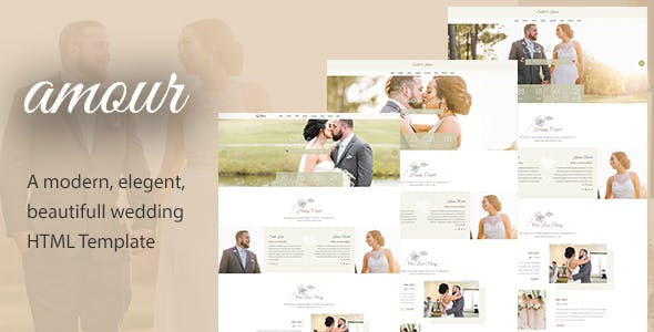 Download Amour - Responsive HTML Wedding Template
