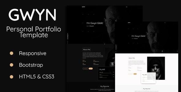 Gwyn - Personal Portfolio Template - Personal Site Templates