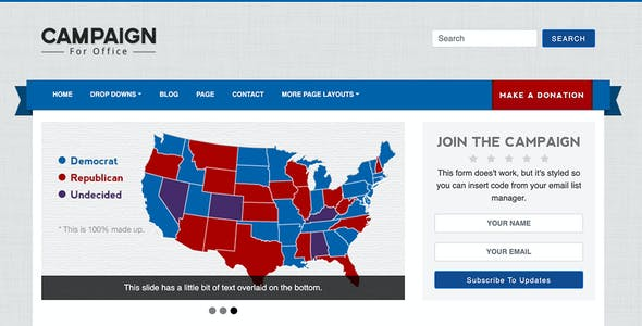 Campaign - Political HTML Website Template