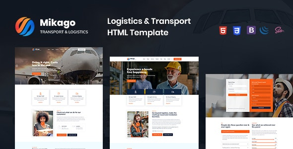Mikago - Logistics & Transportation HTML Template - Business Corporate