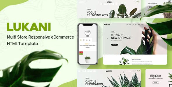 Plant and Flower Shop eCommerce HTML Template - Lukani