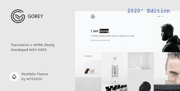 Gorey - Simple Minimalist Portfolio Theme - Portfolio Creative