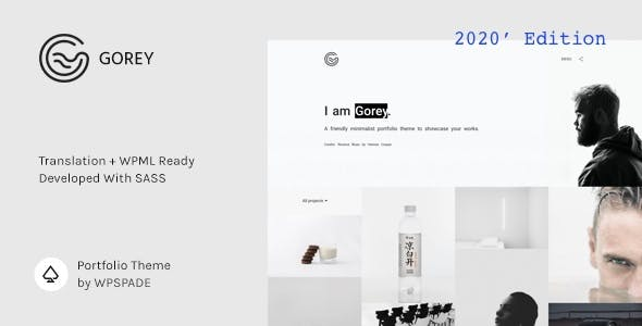 Gorey - Simple Minimalist Portfolio Theme