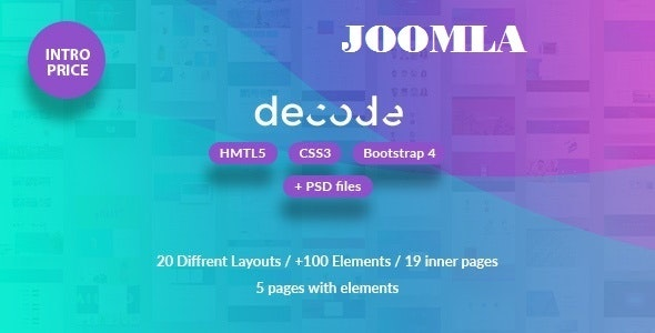 Decode - Premium Business Joomla Template - Business Corporate