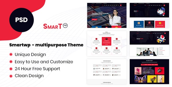 SmartWP - Multipurpose PSD Template - PSD Templates