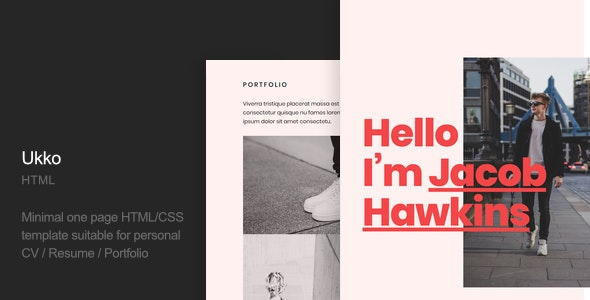 Ukko - Personal Portfolio HTML Template - Virtual Business Card Personal