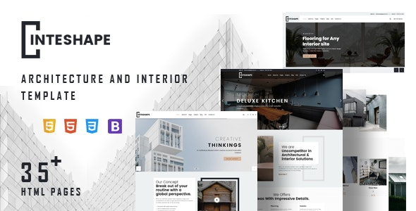 Inteshape - Architecture and Interior Template - Business Corporate
