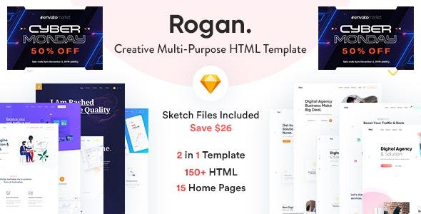 Rogan - Creative Multipurpose HTML + Sketch template - Creative Site Templates