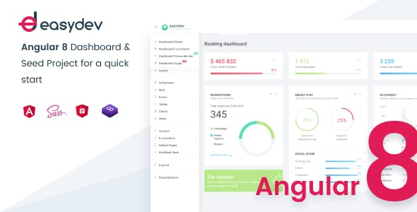 EasyDev-ng — Developer Friendly Angular 8 BS4 Admin Template + Seed Project