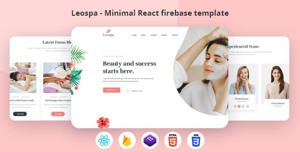 Leospa - Minimal React Firebase Spa Template - Health & Beauty Retail
