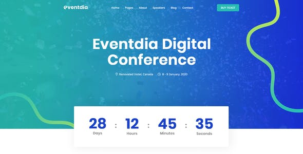 Eventdia - Event and Conference PSD Template