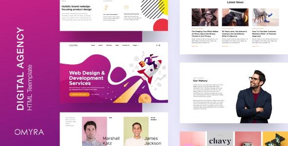 Omyra - Digital Agency HTML Template - Business Corporate