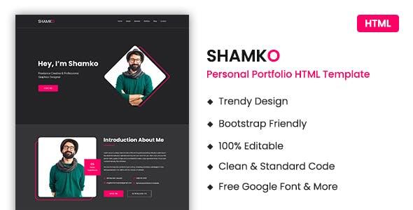 Shamko – Personal Portfolio / CV / Resume HTML Template