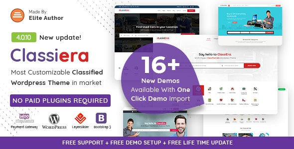 Classiera – Classified Ads WordPress Theme - Directory & Listings Corporate