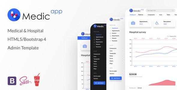 MedicApp Medical HTML5/Bootstrap admin template