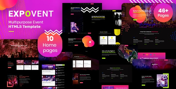 Expovent   Event HTML5 Template - Events Entertainment
