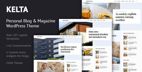 Kelta - Personal Blog & Magazine WordPress Theme