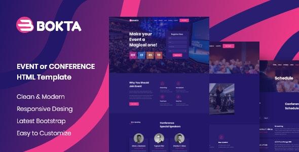 Bokta - Event & Conference HTML 5 Template - Events Entertainment