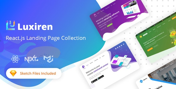 Luxiren - React JS Landing Page Collection - Technology Site Templates