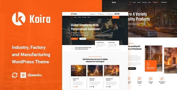 Koira - Industry and Manufacturing WordPress Theme - Business Corporate