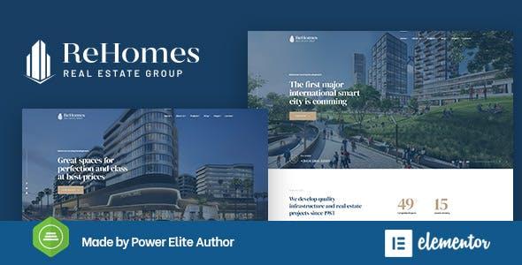 Rehomes - Real Estate Group WordPress Theme