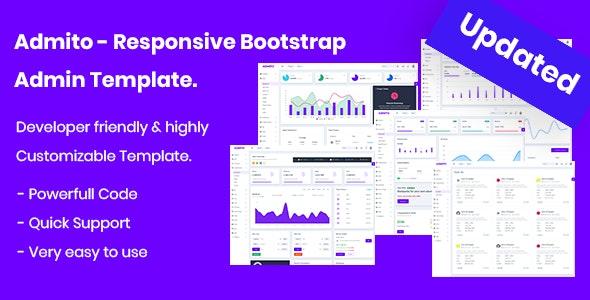 Admito - Responsive Admin & Dashboard Template - Admin Templates Site Templates