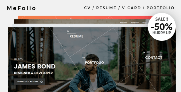Mefolio Ajax Resume WordPress Theme - Portfolio Creative