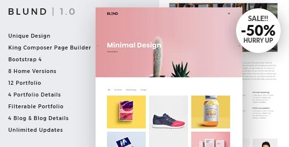 Blund Minimal Portfolio WordPress Theme