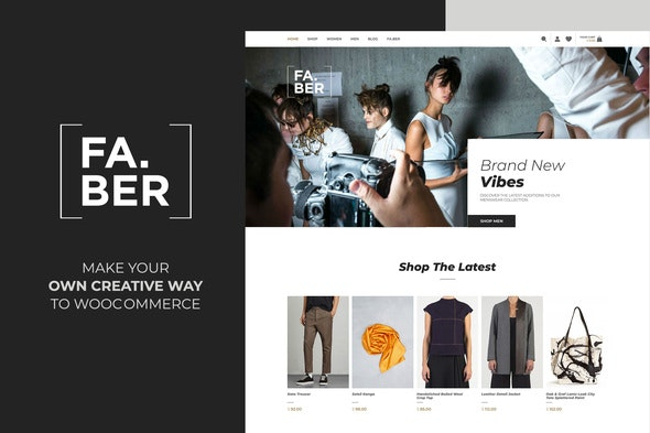 Faber -  Fashion & Clothing Shop for Woocommerce - WooCommerce eCommerce