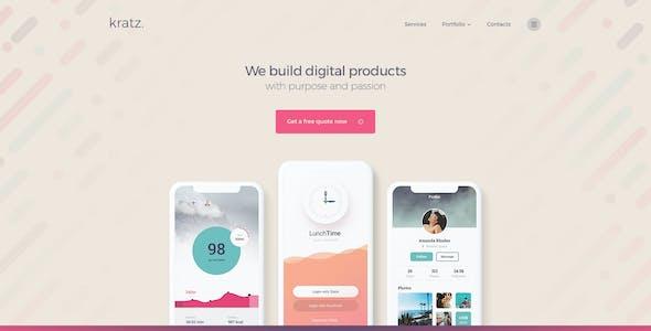 Kratz | Digital Agency Marketing and SEO WordPress Theme
