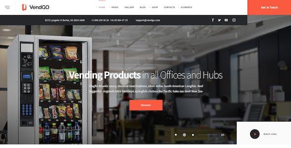 VendGo | Vending  Machines & Snack  HTML Template Pack