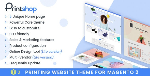 Printshop - Responsive Magento Printing Theme - Shopping Magento