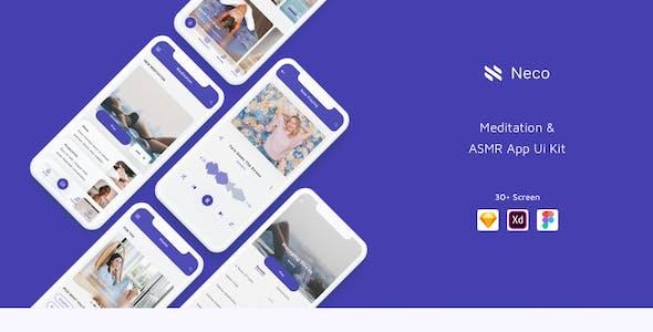 Neco - Meditation App Ui Kit