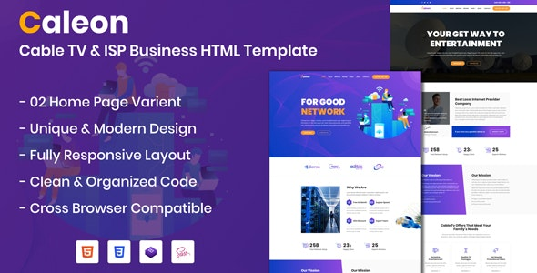 Caleon - Cable TV & ISP Business HTML Template - Business Corporate