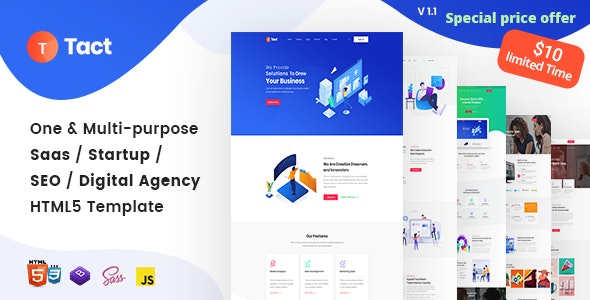 Tact -  Creative Agency Multi-Purpose HTML Template - Software Technology