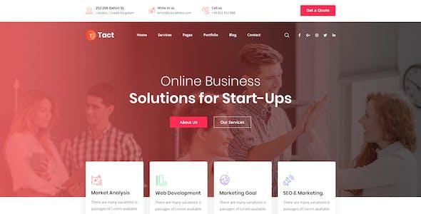 Tact -  Creative Agency Multi-Purpose HTML Template