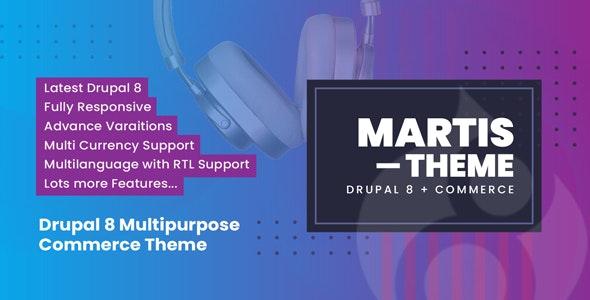 Martis Drupal 8 Commerce Theme - Drupal CMS Themes