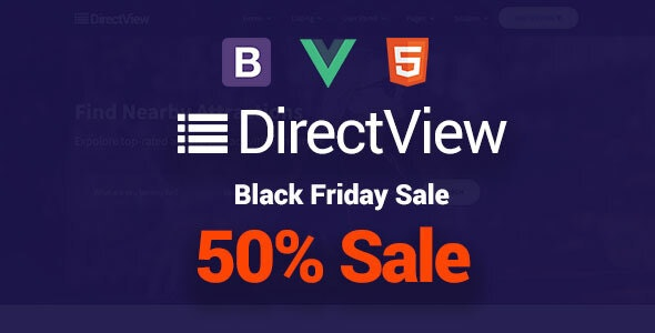 DirectView - Directory & Listings Vuejs Site Template - Business Corporate