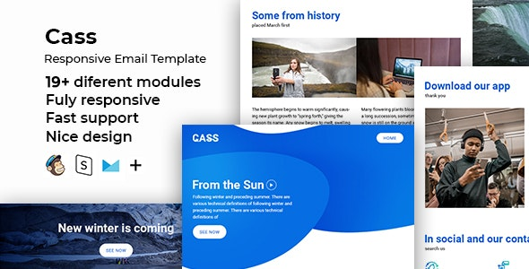 Cass – Responsive HTML Email + StampReady, MailChimp & CampaignMonitor Compatible Files - Email Templates Marketing