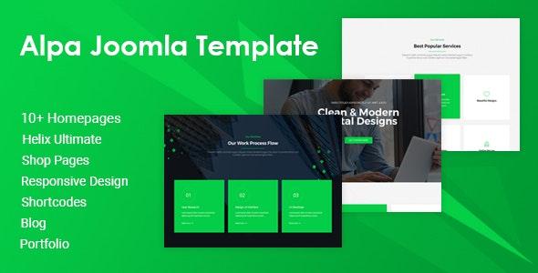 Alpa | Responsive Multipurpose Joomla Website Template - Business Corporate