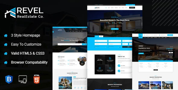 Revel - Real Estate HTML Template - Business Corporate