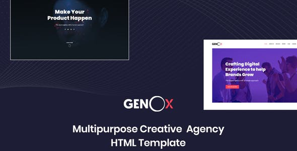 Genox - Creative & Digital Web Agency Multipurpose HTML Template