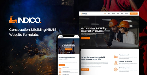 Indico - Construction & Building HTML Template - Business Corporate