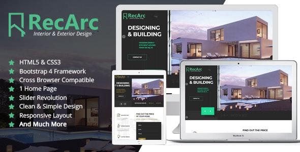 RecArc Interior & Exterior Design - HTML Template - Business Corporate