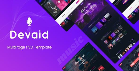 Devaid - MultiPage Psd Template